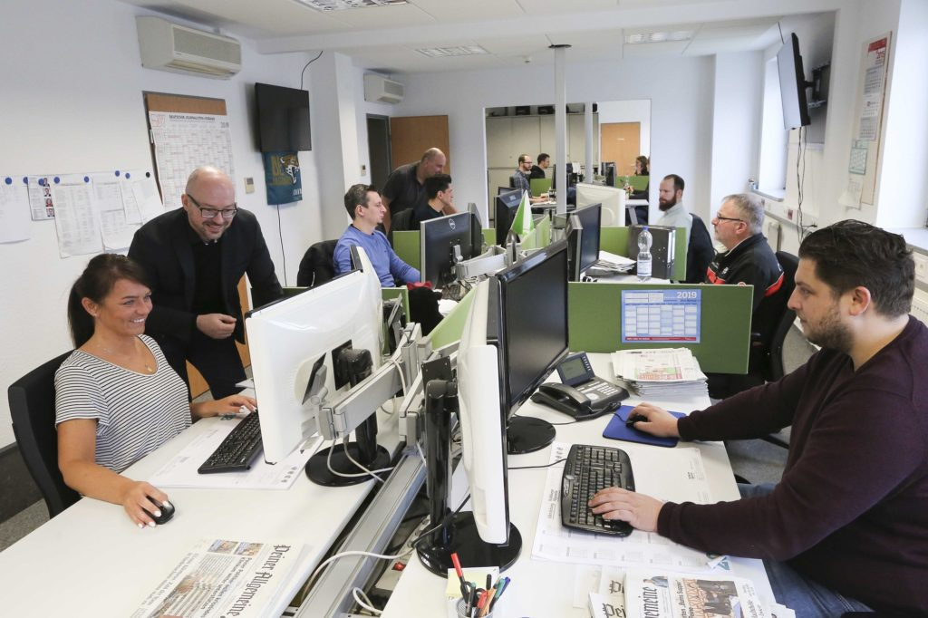 Newsroom in Wolfsburg
